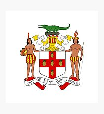 Coat of arms of Jamaica Photographic Print