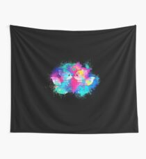 Anthropomorphized animals cartoon colorful Wall Tapestry