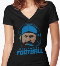 Motor City Football Women's Fitted V-Neck T-Shirt