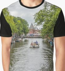 Lazy Sunday Afternoon On A Canal in Amsterdam Netherlands Graphic T-Shirt