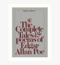 Die vollständigen Geschichten und Gedichte von Edgar Allan Poe Cover Kunstdruck