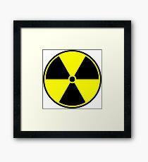 Radioactive Symbol Framed Print