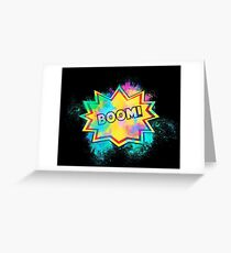 The eruption comic colorful Greeting Card