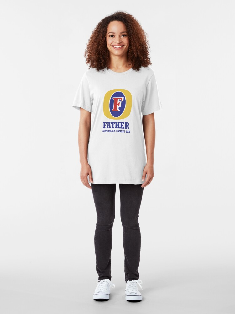 Alternate view of Happy Father's Day - September 2nd in Australia Slim Fit T-Shirt
