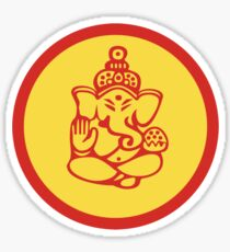 Yoga Ganesh T-Shirt Sticker