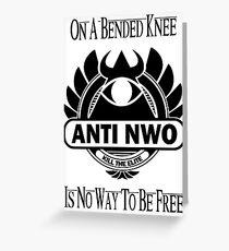 Anti NWO Greeting Card