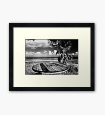 Cyprus Beach Bar Framed Print