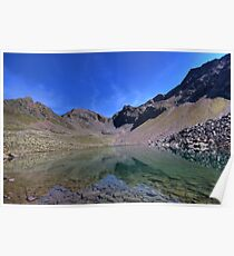 mountain lake with a view Poster