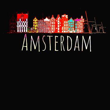 Amsterdam City Netherlands Souvenir Style Design by IvonDesign