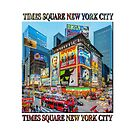 Times Square III Special Finale Edition Titled Poster (on white) by Ray Warren