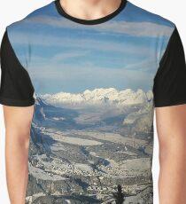Innsbruck In Winter From Patscherkofel Mountain Graphic T-Shirt
