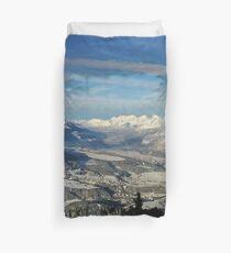 Innsbruck In Winter From Patscherkofel Mountain Duvet Cover