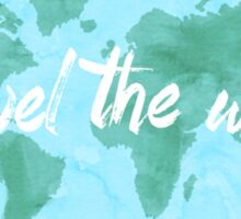 Travel the World watercolor Sticker