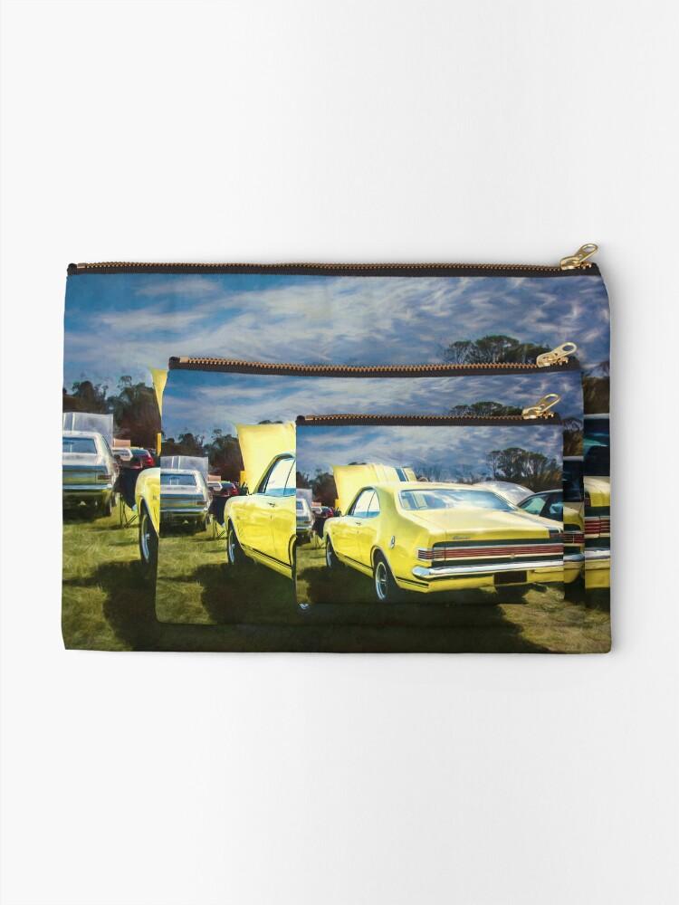Alternate view of Yellow Holden HK Monaro GTS Zipper Pouch