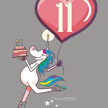 Unicorn 11 year old birthday girl by melsens