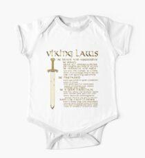 Viking Laws Sword Scandinavia Island Valhalla Baby Body Kurzarm