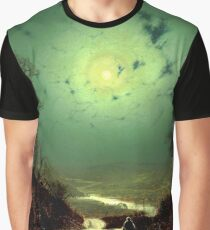 A Wet Road by Moonlight, Wharfedale - John Atkinson Grimshaw Graphic T-Shirt