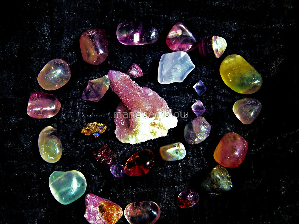 crown  chakra stones  by mandyemblow