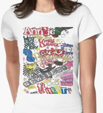 Broadway Shows collage Women's Fitted T-Shirt