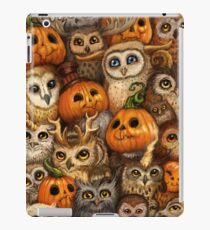 Halloween: Pumpkin Owls iPad Case/Skin