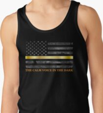 Dispatcher Gifts - Thin Gold Line - Thin Yellow Line - 911 Emergency Dispatchers Tank Top