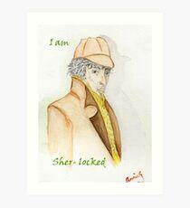Sher-locked Art Print