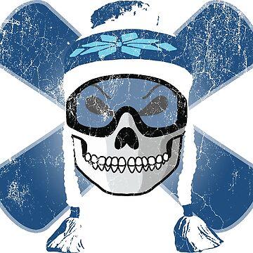 Board Skull - Blue | DopeyArt by DopeyArt