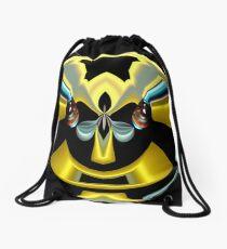 contemporary techno art 1025 Drawstring Bag