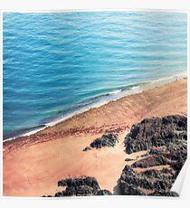 Rocky Beach Aerial Poster