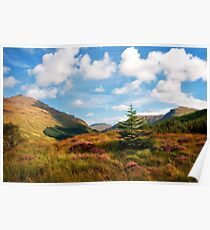 Mountain Pastoral. Rest and Be Thankful. Scotland Poster