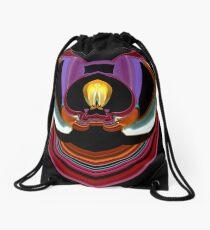 contemporary techno art 1032 Drawstring Bag