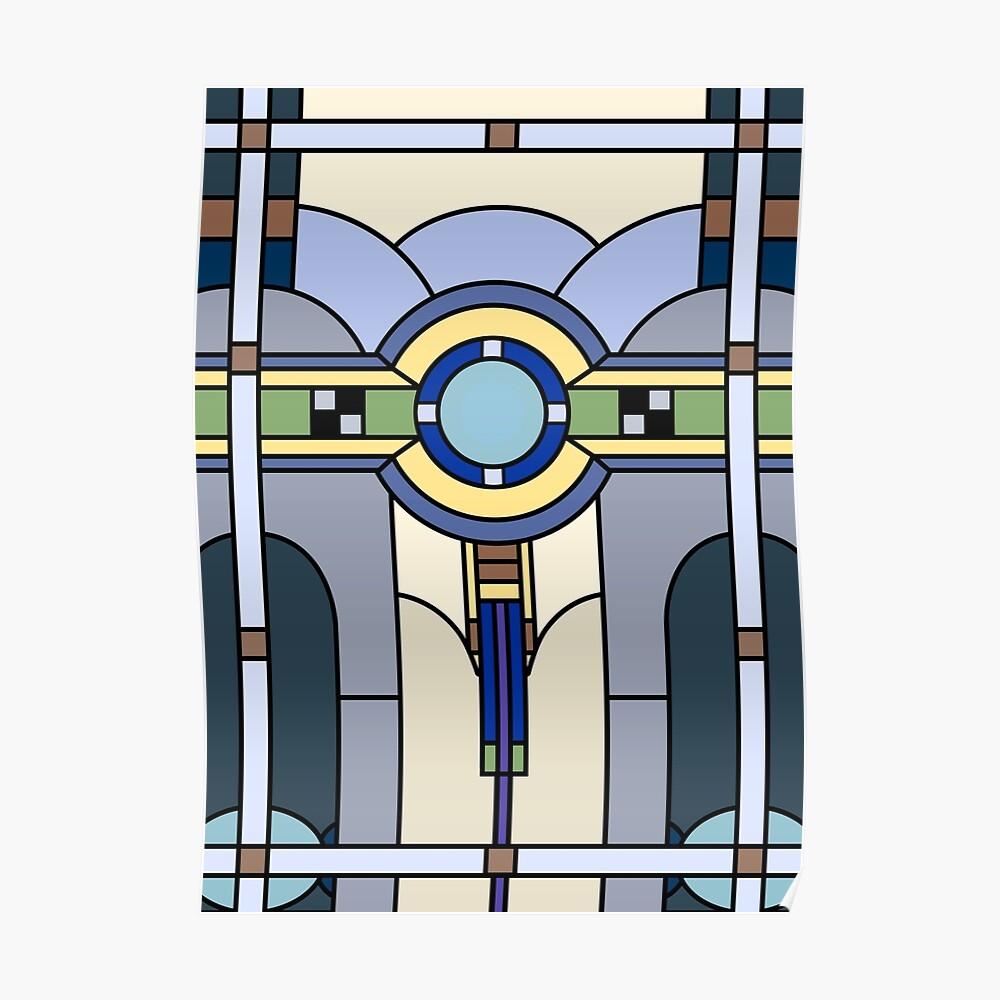 Vidrieras Art Deco Póster