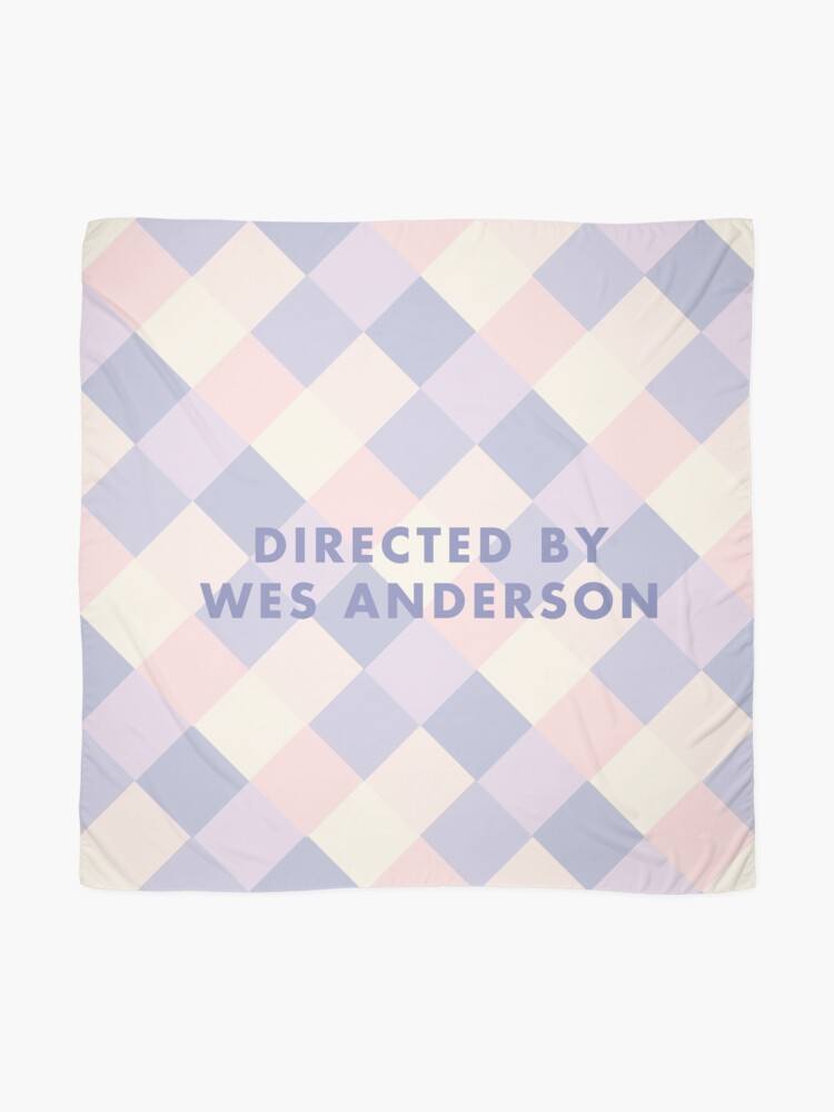 Alternative Ansicht von Regie: Wes Anderson-Pastelle Tuch
