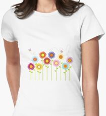 Colorful Garden Women's Fitted T-Shirt