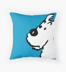 "Snowy(Tintin Dog ""Milou"") Blue  Throw Pillow"