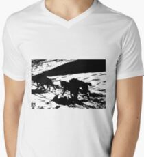 Sled Dogs in Prescott Park, Portsmouth, NH Men's V-Neck T-Shirt