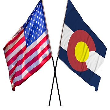 American and Colorado flag design by jhussar
