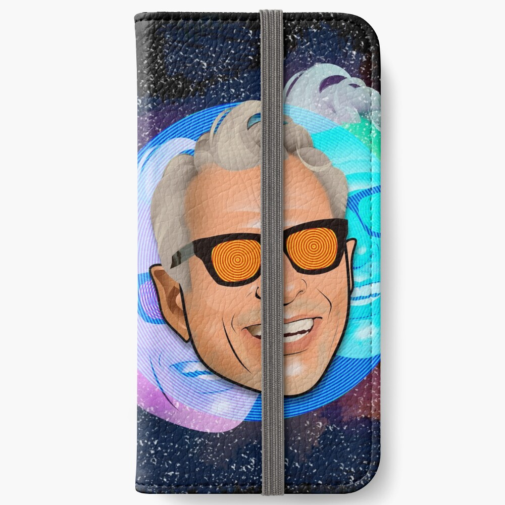 Kosmischer Goldblum iPhone Flip-Case