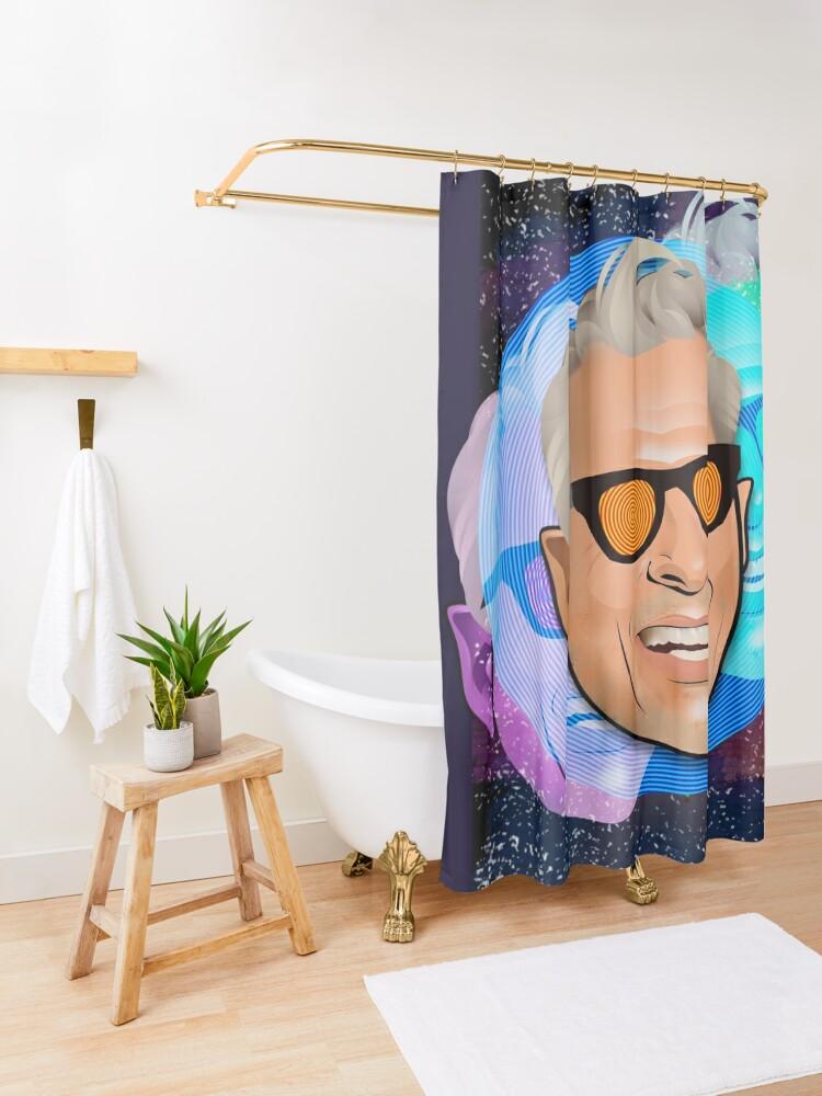 Alternative Ansicht von Kosmischer Goldblum Duschvorhang