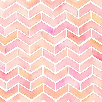 Cute Pink Ombre Watercolor Chevron Pattern by namibear