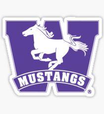 Western Mustangs  Sticker