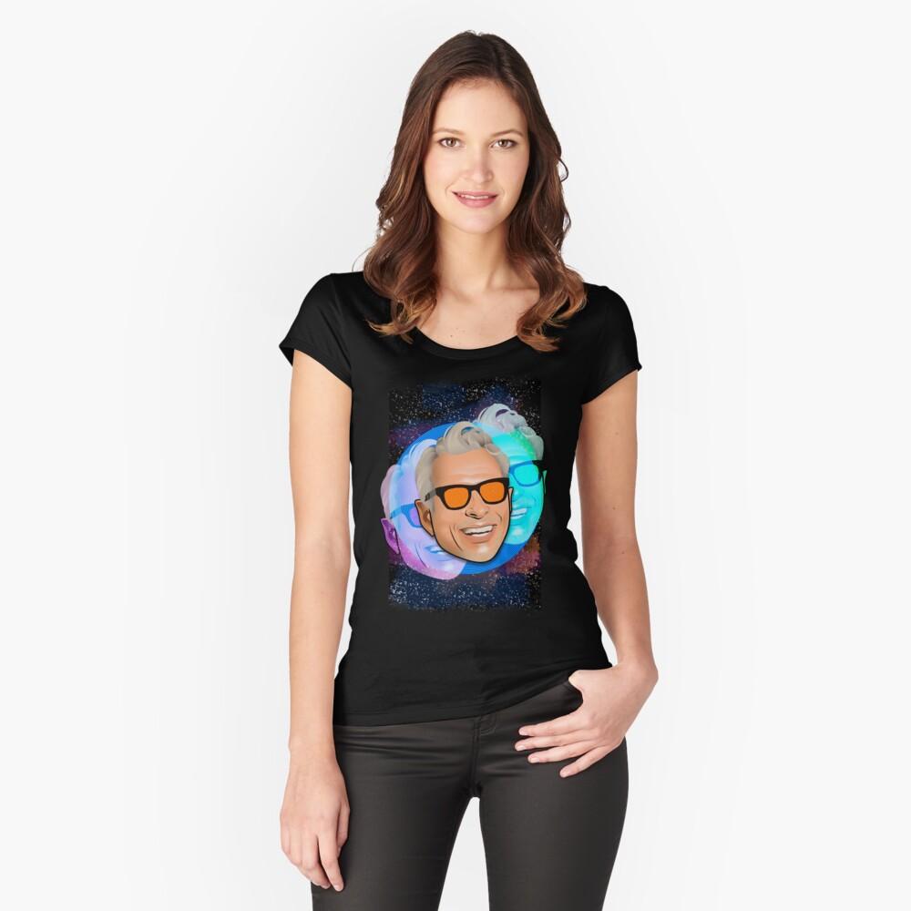 Kosmischer Goldblum Tailliertes Rundhals-Shirt
