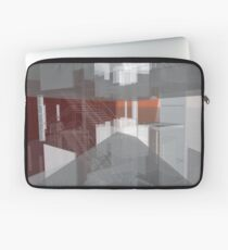 red, gray, orange, white, stairs and walls, abstract architectural drawings Laptop Sleeve