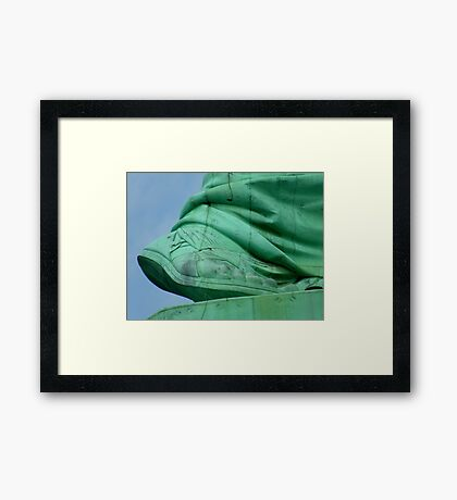 I Come To You To Offer Peace And Freedom Framed Print