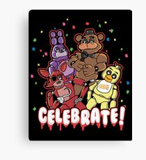Five Nights At Freddy's Celebrate! Canvas Print