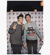 Dan and phil polaroid Poster