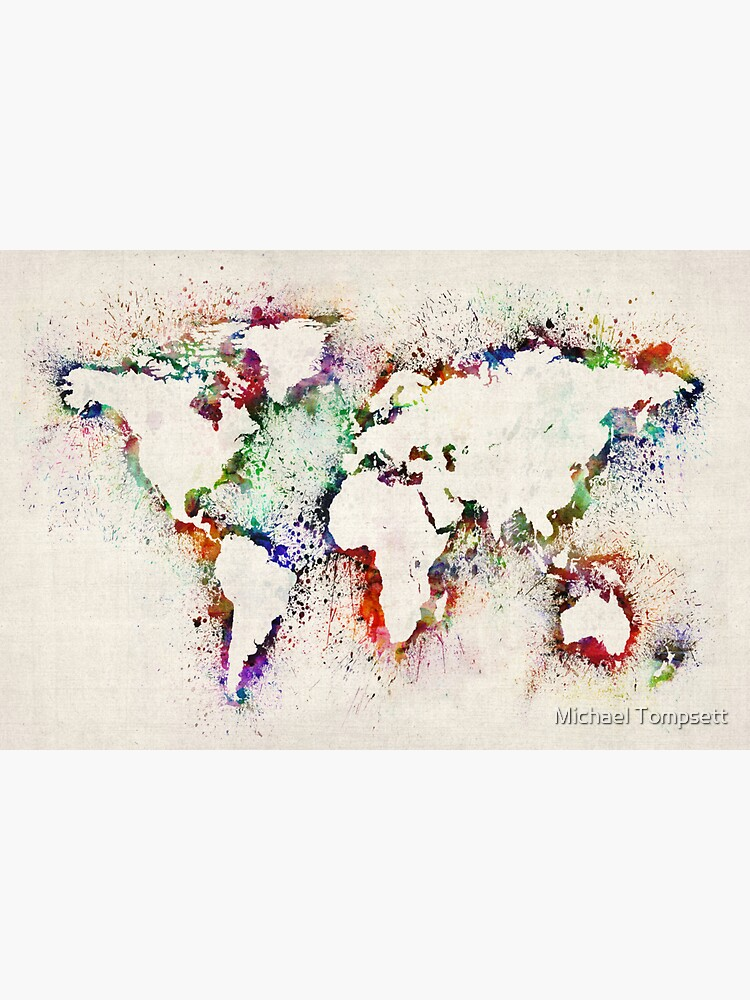 Map of the World Paint Splashes by ArtPrints