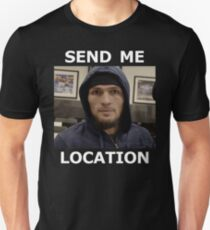 Khabib Nurmagomedov UFC 'Send Me Location' Slim Fit T-Shirt