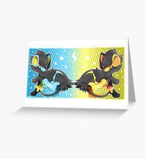 Luxray #405 Greeting Card