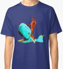 The Tulsa Driller Rides the Blue Whale Classic T-Shirt